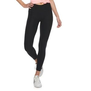 High Waisted Black Velour Leggings